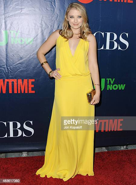 Actress Elisabeth Harnois arrives at CBS CW And Showtime 2015 Summer TCA Party at Pacific Design Center on August 10 2015 in West Hollywood California