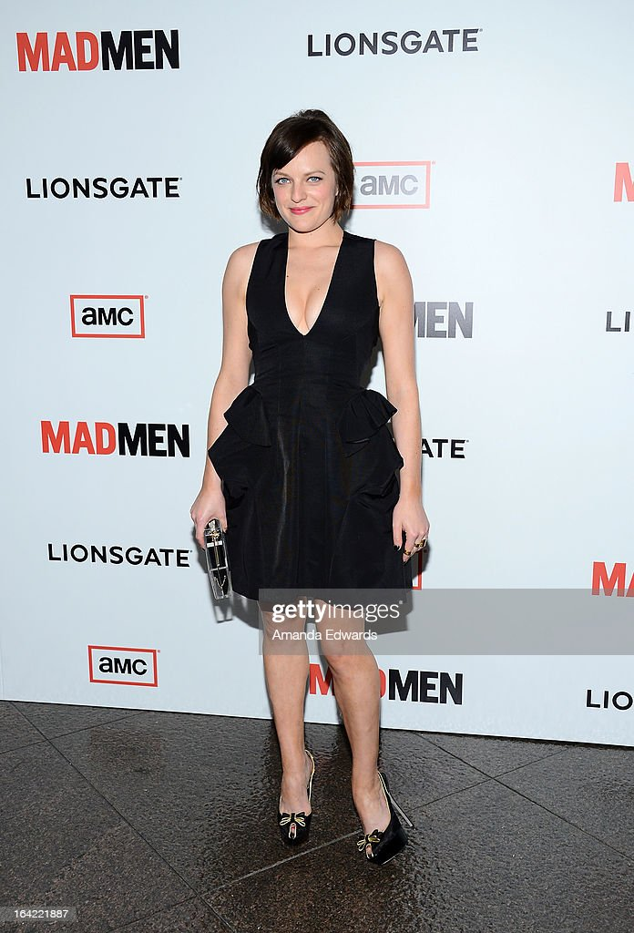 Actress Elisabeth Moss arrives at AMC's 'Mad Men' Season 6 Premiere at the DGA Theater on March 20, 2013 in Los Angeles, California.