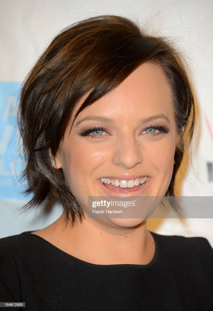 Actress Elisabeth Moss arrives at the 41st Annual Peace Over Violence Humanitarian Awards held at Beverly Hills Hotel on October 26, 2012 in Beverly Hills, California.