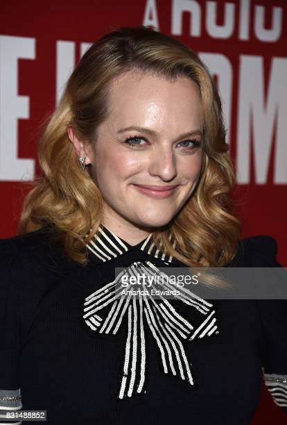Actress Elisabeth Moss arrives at the FYC Event for Hulu's 'The Handmaid's Tale' at the DGA Theater on August 14 2017 in Los Angeles California