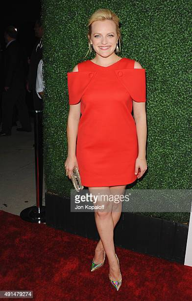 Actress Elisabeth Moss arrives at the Industry Screening Of Sony Pictures Classics' 'Truth' at Samuel Goldwyn Theater on October 5 2015 in Beverly...