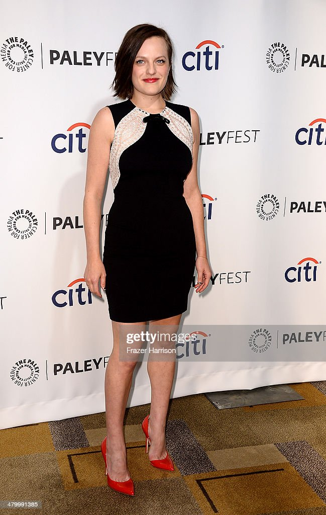 Actress <a gi-track='captionPersonalityLinkClicked' href=/galleries/search?phrase=Elisabeth+Moss&family=editorial&specificpeople=3079265 ng-click='$event.stopPropagation()'>Elisabeth Moss</a> arrives at The Paley Center For Media's PaleyFest 2014 Honoring 'Mad Men' at Dolby Theatre on March 21, 2014 in Hollywood, California.