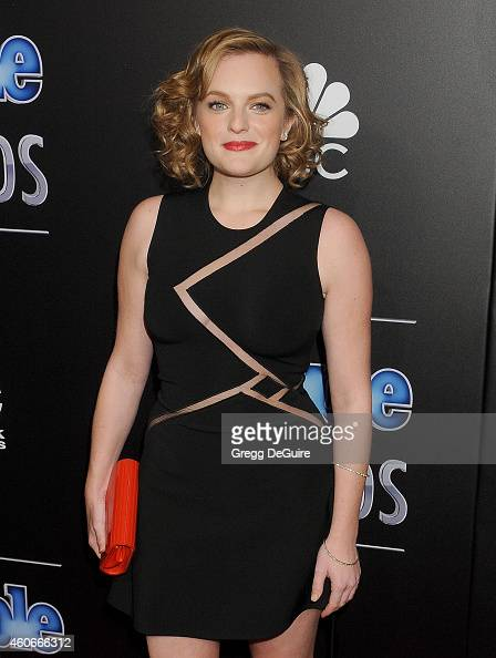 Actress Elisabeth Moss arrives at The PEOPLE Magazine Awards at The Beverly Hilton Hotel on December 18 2014 in Beverly Hills California