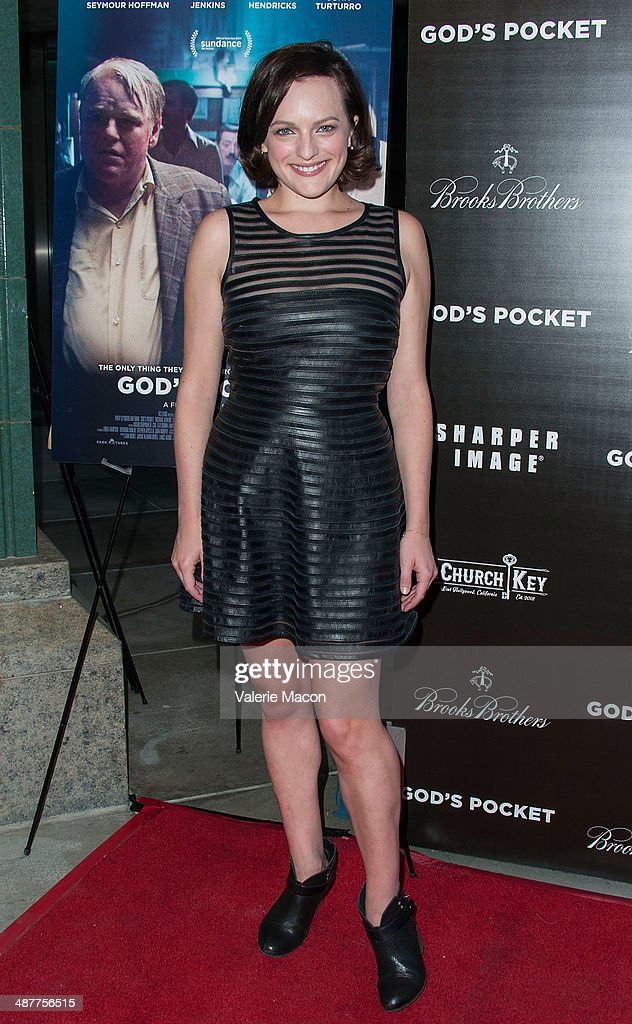 Actress <a gi-track='captionPersonalityLinkClicked' href=/galleries/search?phrase=Elisabeth+Moss&family=editorial&specificpeople=3079265 ng-click='$event.stopPropagation()'>Elisabeth Moss</a> arrives at the Premiere Of IFC Films' 'God's Pocket' at LACMA on May 1, 2014 in Los Angeles, California.