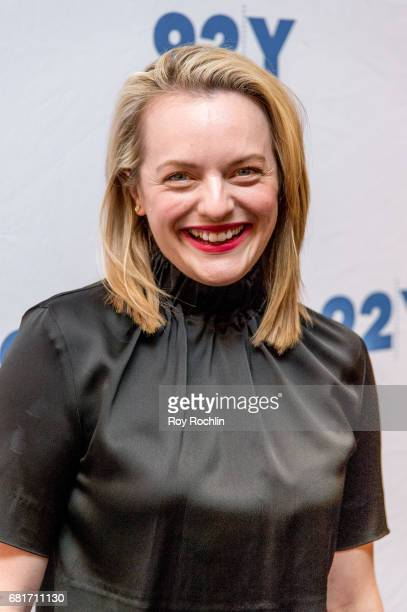 Actress Elisabeth Moss attends 92Y Presents Hulu's 'The Handmaid's Tale' at 92nd Street Y on May 10 2017 in New York City