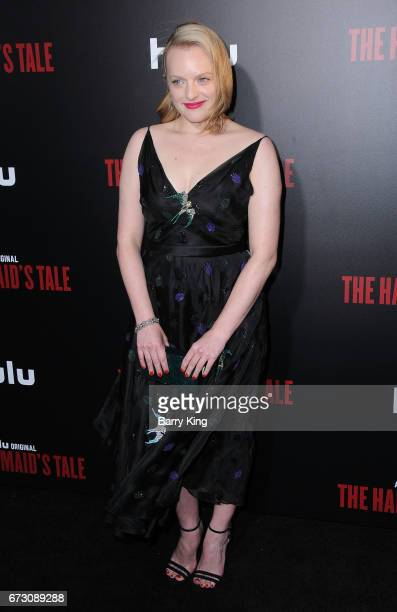 Actress Elisabeth Moss attends premiere of Hulu's 'The Handmaid's Tale' at ArcLight Cinemas Cinerama Dome on April 25 2017 in Hollywood California