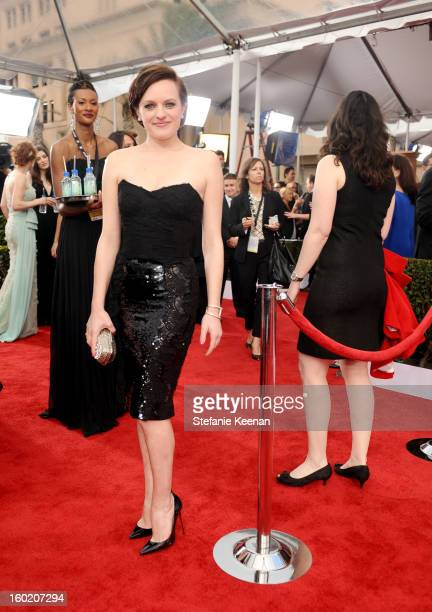 Actress Elisabeth Moss attends the 19th Annual Screen Actors Guild Awards at The Shrine Auditorium on January 27 2013 in Los Angeles California...