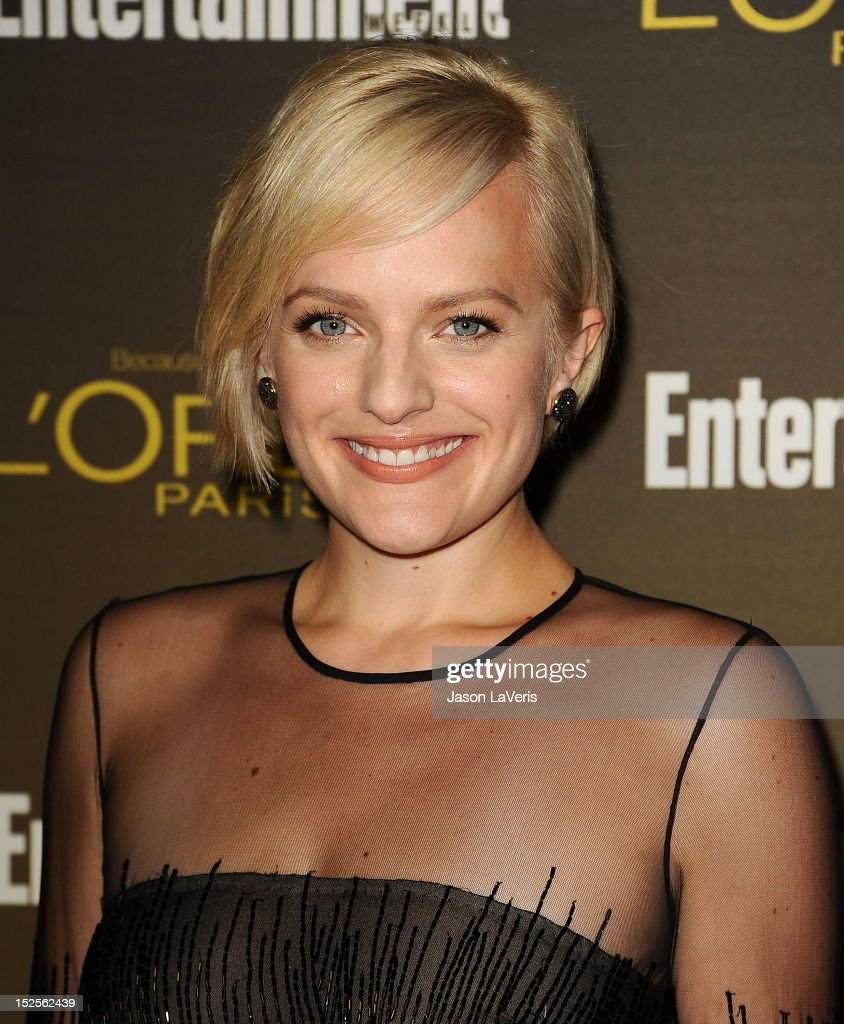 Actress Elisabeth Moss attends the 2012 Entertainment Weekly pre-Emmy party at Fig & Olive Melrose Place on September 21, 2012 in West Hollywood, California.