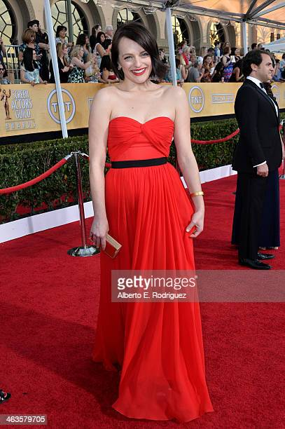 Actress Elisabeth Moss attends the 20th Annual Screen Actors Guild Awards at The Shrine Auditorium on January 18 2014 in Los Angeles California