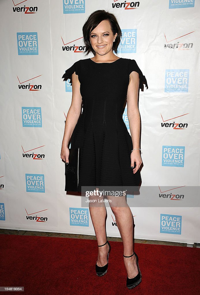 Actress Elisabeth Moss attends the 41st annual Peace Over Violence Humanitarian Awards at Beverly Hills Hotel on October 26, 2012 in Beverly Hills, California.