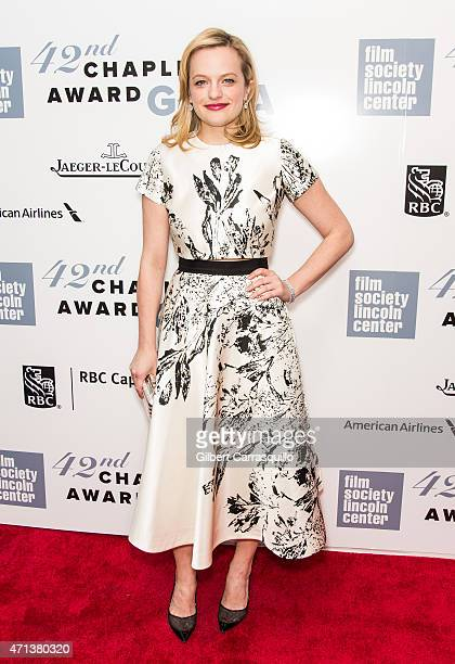 Actress Elisabeth Moss attends the 42nd Chaplin Award Gala at Alice Tully Hall Lincoln Center on April 27 2015 in New York City
