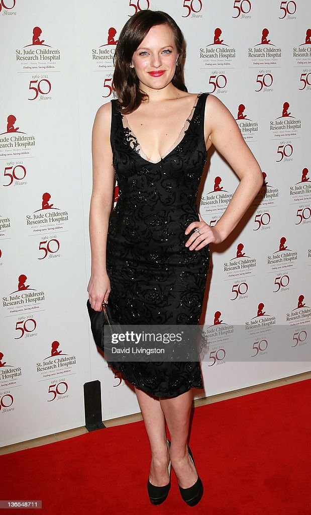 Actress Elisabeth Moss attends the 50th anniversary celebration for St. Jude Children's Research Hospital at The Beverly Hilton hotel on January 7, 2012 in Beverly Hills, California.