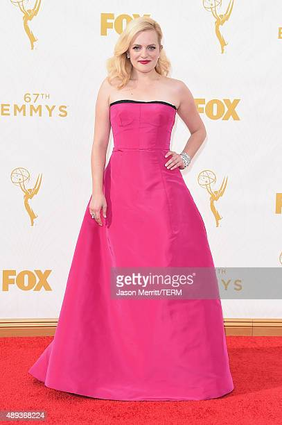 Actress Elisabeth Moss attends the 67th Annual Primetime Emmy Awards at Microsoft Theater on September 20 2015 in Los Angeles California