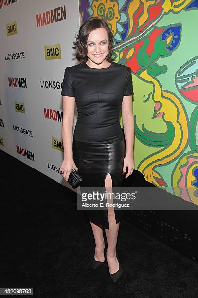 Actress Elisabeth Moss attends the AMC celebration of the 'Mad Men' season 7 premiere at ArcLight Cinemas on April 2 2014 in Hollywood California