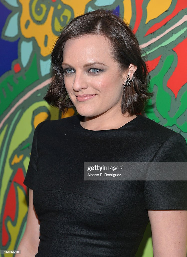 Actress Elisabeth Moss attends the AMC celebration of the 'Mad Men' season 7 premiere at ArcLight Cinemas on April 2, 2014 in Hollywood, California.