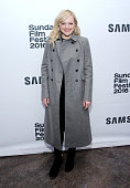 Actress Elisabeth Moss attends The Free World Cocktails at the Samsung Studio during the 2016 Sundance Film Festival on January 26 2016 in Park City...