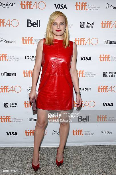 Actress Elisabeth Moss attends the 'HighRise' premiere during the 2015 Toronto International Film Festival at The Elgin on September 13 2015 in...