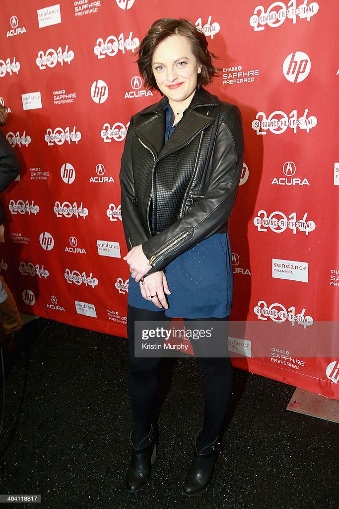 Actress <a gi-track='captionPersonalityLinkClicked' href=/galleries/search?phrase=Elisabeth+Moss&family=editorial&specificpeople=3079265 ng-click='$event.stopPropagation()'>Elisabeth Moss</a> attends the 'Listen Up Philip' Premiere during the 2014 Sundance Film Festival at Library Center Theater on January 20, 2014 in Park City, Utah.