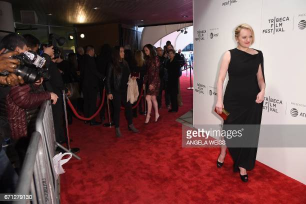 Actress Elisabeth Moss attends the Premiere of 'A Handmaid's Tale' during the 2017 Tribeca Film Festival at SVA Theater on April 21 2017 in New York...