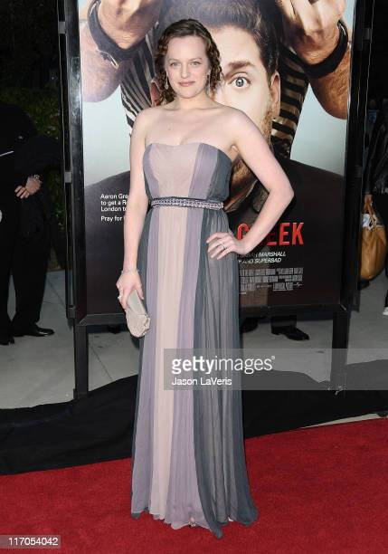 Actress Elisabeth Moss attends the premiere of 'Get Him To The Greek' at The Greek Theatre on May 25 2010 in Los Angeles California