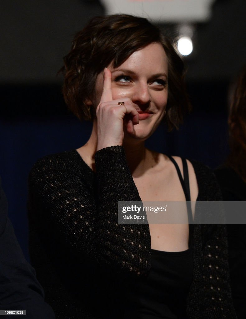 Actress Elisabeth Moss attends the premiere of Sundance Channel Original Series 'Top of the Lake' on January 20, 2013 in Park City, Utah.
