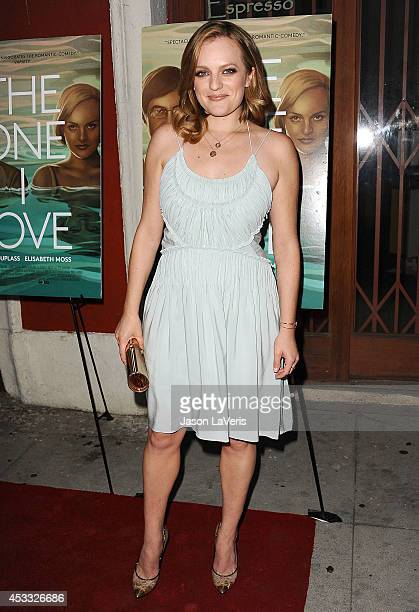 Actress Elisabeth Moss attends the premiere of 'The One I Love' at the Vista Theatre on August 7 2014 in Los Angeles California