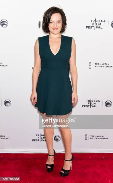 Actress Elisabeth Moss attends the premiere of 'The One I Love' during the 2014 Tribeca Film Festival at SVA Theater on April 25 2014 in New York City