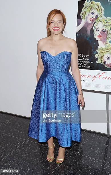 Actress Elisabeth Moss attends the 'Queen Of Earth' New York premiere at Museum of Modern Art on August 24 2015 in New York City