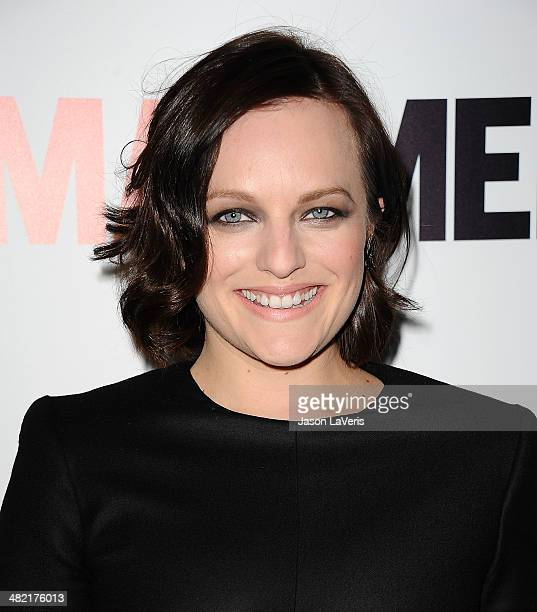Actress Elisabeth Moss attends the season 7 premiere of 'Mad Men' at ArcLight Cinemas on April 2 2014 in Hollywood California
