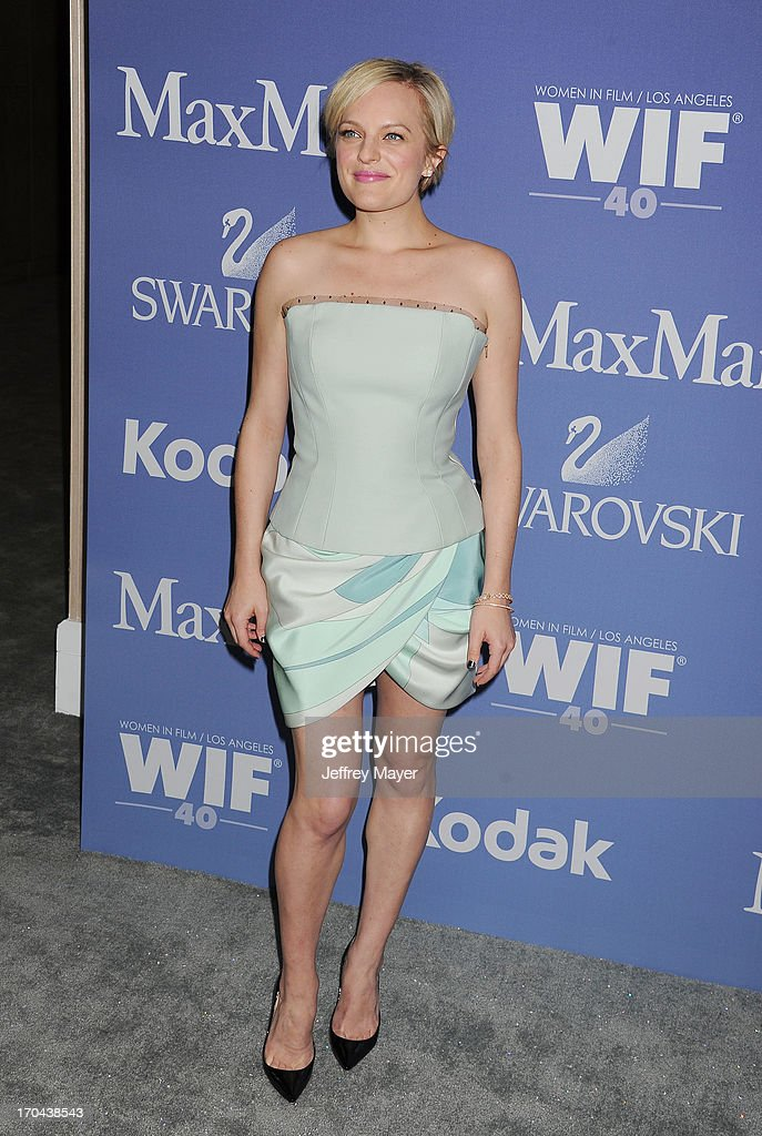 Actress <a gi-track='captionPersonalityLinkClicked' href=/galleries/search?phrase=Elisabeth+Moss&family=editorial&specificpeople=3079265 ng-click='$event.stopPropagation()'>Elisabeth Moss</a> attends Women In Film's 2013 Crystal + Lucy Awards at The Beverly Hilton Hotel on June 12, 2013 in Beverly Hills, California.