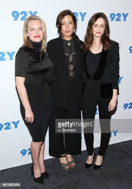 Actress Elisabeth Moss director Reed Morano and actress Alexis Bledel attend 92Y Presents Hulu's 'The Handmaid's Tale' at 92nd Street Y on May 10...