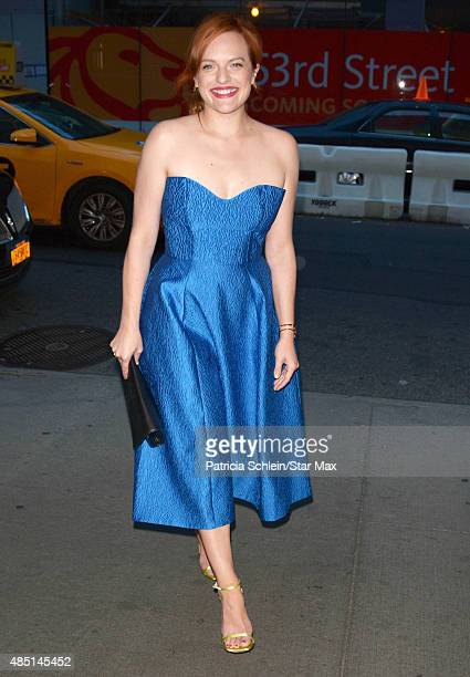 Actress Elisabeth Moss is seen on August 24 2015 in New York City