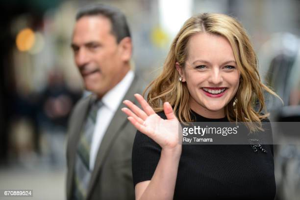 Actress Elisabeth Moss leaves the 'The Late Show With Stephen Colbert' taping at the Ed Sullivan Theater on April 20 2017 in New York City