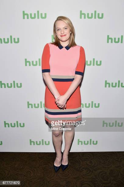 Actress Elisabeth Moss of 'The Handmaid's Tale' attends the Hulu Upfront at Madison Square Garden on May 3 2017 in New York City