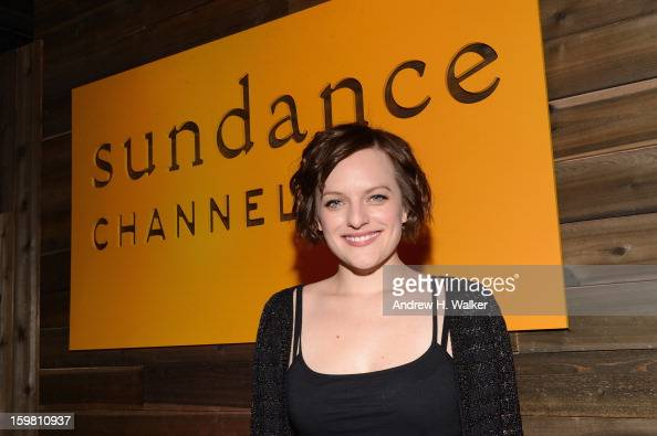 Actress Elisabeth Moss of 'Top of the Lake' attends the Sundance Channel celebration at Sundance Film Festival 2013 on January 20 2013 in Park City...