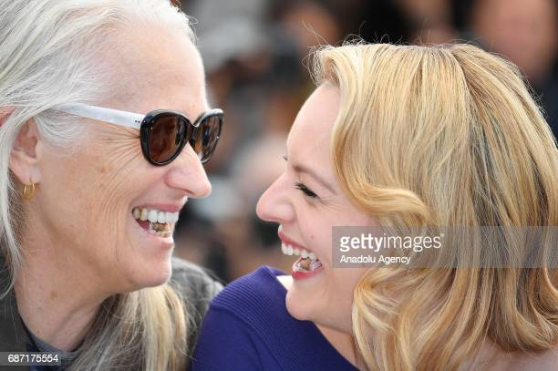 US actress Elisabeth Moss pose and New Zealand director Jane Campion pose during a photocall for the film Top Of The Lake China Girl photocall out of...