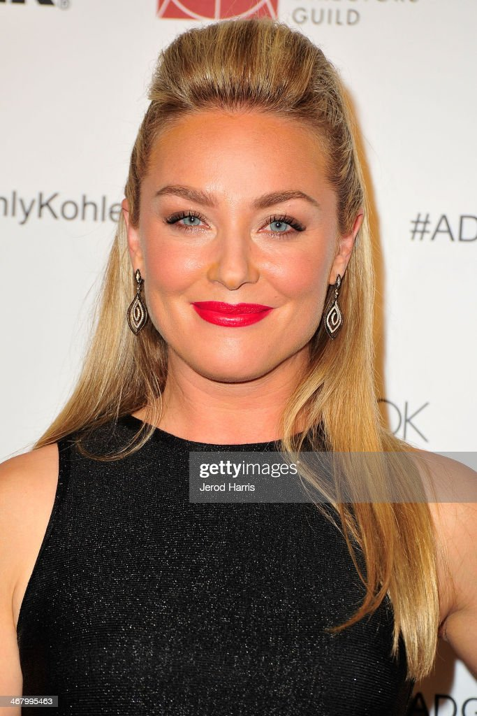 Actress <a gi-track='captionPersonalityLinkClicked' href=/galleries/search?phrase=Elisabeth+Rohm&family=editorial&specificpeople=203139 ng-click='$event.stopPropagation()'>Elisabeth Rohm</a> arrives at the 18th Annual Art Directors Guild Excellence in Production Design Awards at The Beverly Hilton Hotel on February 8, 2014 in Beverly Hills, California.