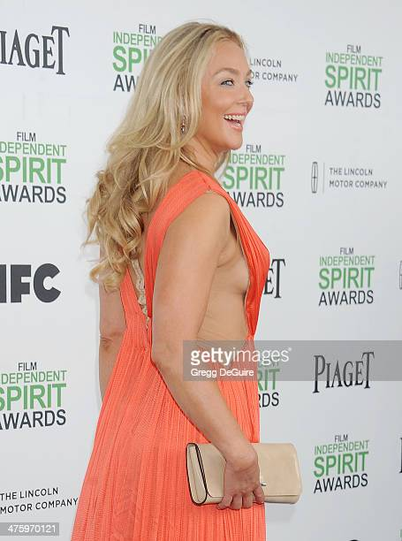 Actress Elisabeth Rohm arrives at the 2014 Film Independent Spirit Awards on March 1 2014 in Santa Monica California
