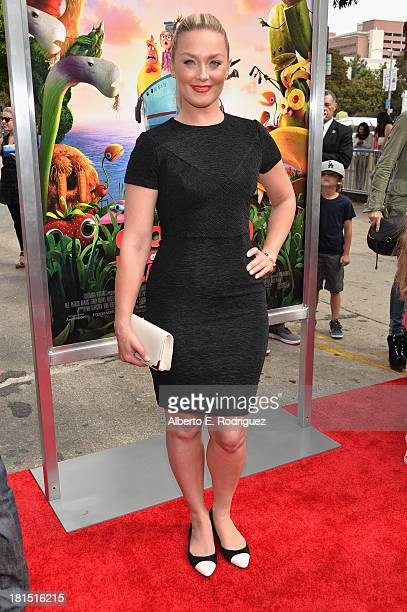 Actress Elizabeth Rohm arrives to the premiere of Columbia Pictures and Sony Pictures Animation's 'Cloudy With A Chance of Meatballs 2' at the...