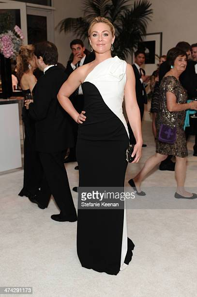Actress Elisabeth Rohm attends the 16th Costume Designers Guild Awards with presenting sponsor Lacoste at The Beverly Hilton Hotel on February 22...