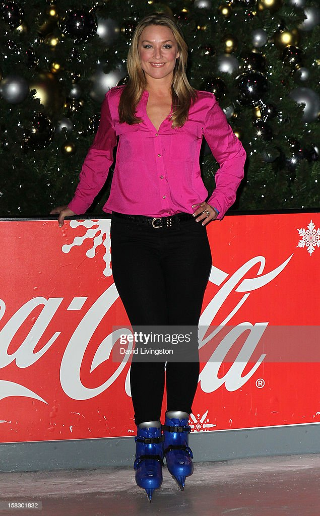 Actress Elisabeth Rohm attends the opening night of Disney On Ice's 'Dare To Dream' at LA Kings Holiday Ice at L.A. LIVE on December 12, 2012 in Los Angeles, California.