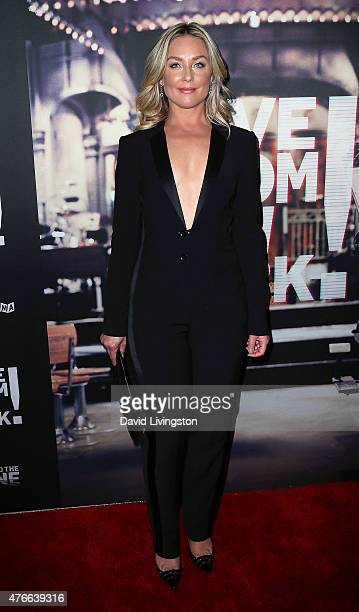 Actress Elisabeth Rohm attends the premiere of Abramorama's 'Live from New York' at the Landmark Theatre on June 10 2015 in Los Angeles California