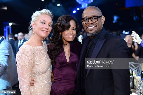 Actress Elisabeth Rohm Keisha Whitaker and actor Forest Whitaker attend the 20th Annual Screen Actors Guild Awards at The Shrine Auditorium on...