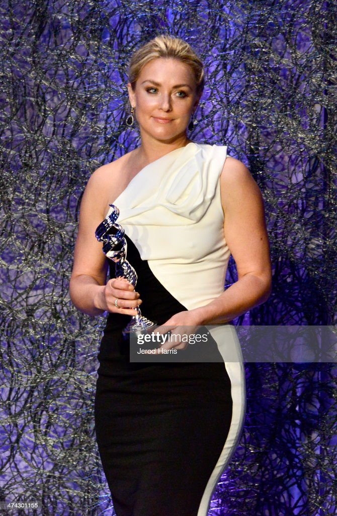 Actress <a gi-track='captionPersonalityLinkClicked' href=/galleries/search?phrase=Elisabeth+Rohm&family=editorial&specificpeople=203139 ng-click='$event.stopPropagation()'>Elisabeth Rohm</a> presents onstage during the 16th Costume Designers Guild Awards with presenting sponsor Lacoste at The Beverly Hilton Hotel on February 22, 2014 in Beverly Hills, California.