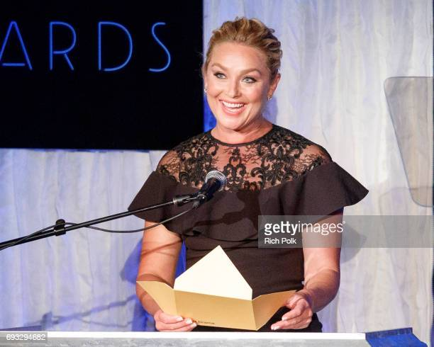 Actress Elisabeth Rohm speaks on stage at the 18th Annual Golden Trailer Awards Hosted By Wayne Brady on June 6 2017 in Beverly Hills California
