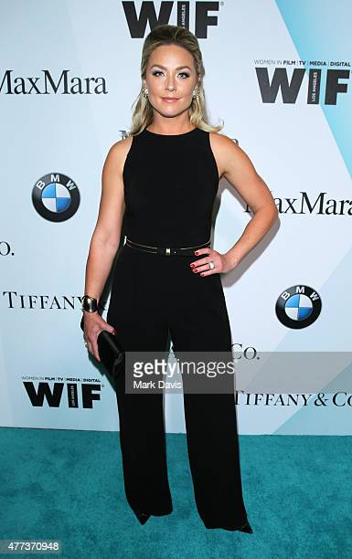 Actress Elisabeth Rohm wearing Max Mara and Tiffany Co attends the Women In Film 2015 Crystal Lucy Awards Presented by Max Mara BMW of North America...