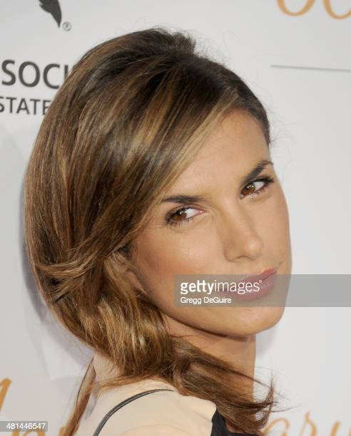 Actress Elisabetta Canalis arrives at The Humane Society Of The United States 60th anniversary benefit gala at The Beverly Hilton Hotel on March 29...