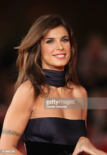 Actress Elisabetta Canalis attends the 'Up In The Air' Premiere during day 3 of the 4th Rome International Film Festival held at the Auditorium Parco...
