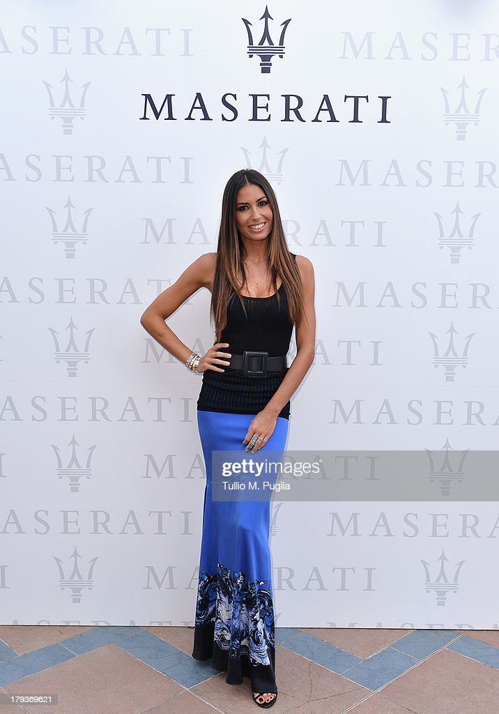 Actress <a gi-track='captionPersonalityLinkClicked' href=/galleries/search?phrase=Elisabetta+Gregoraci&family=editorial&specificpeople=606805 ng-click='$event.stopPropagation()'>Elisabetta Gregoraci</a> attends the 70th Venice International Film Festival at Terrazza Maserati on September 2, 2013 in Venice, Italy.