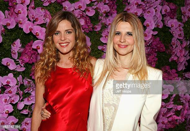 Actress Elisabetta Pellini and Serena Iaricci attend BVLGARI and Save The Children STOP THINK GIVE PreOscar Event at Spago on February 17 2015 in...
